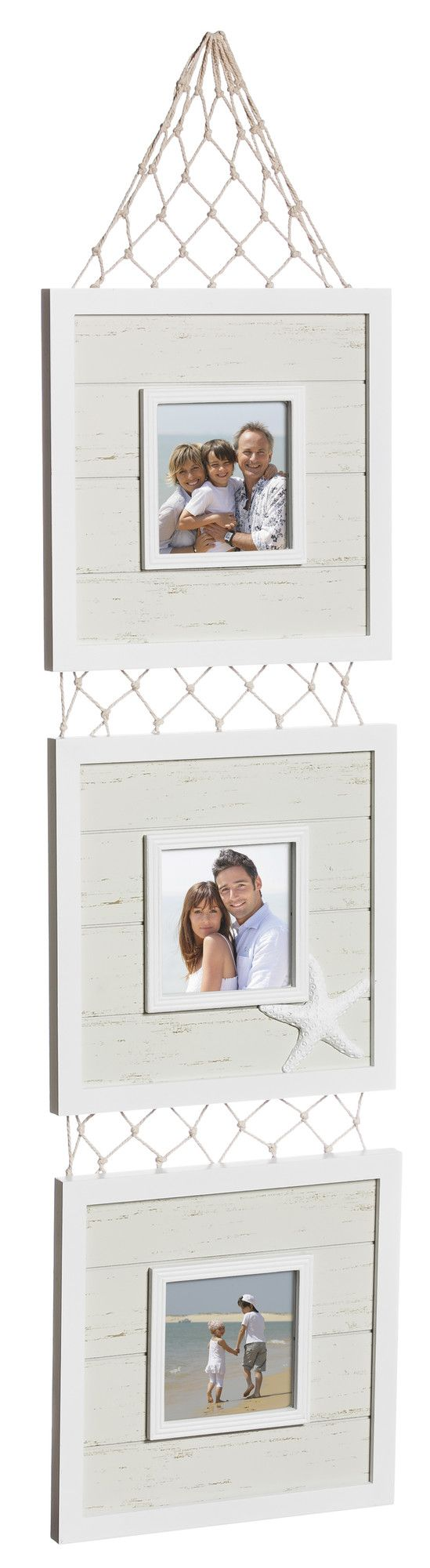 Coastal Holds Wooden Tiered Picture Frame | Coastal Charm ...