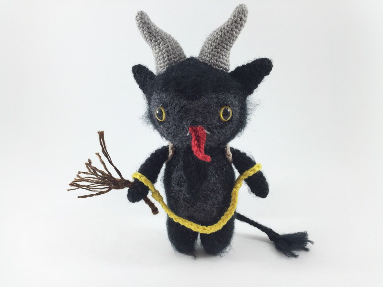 Crocheted Krampus, Amigurumi Krampus, Baby Krampus, Scary Christmas ...