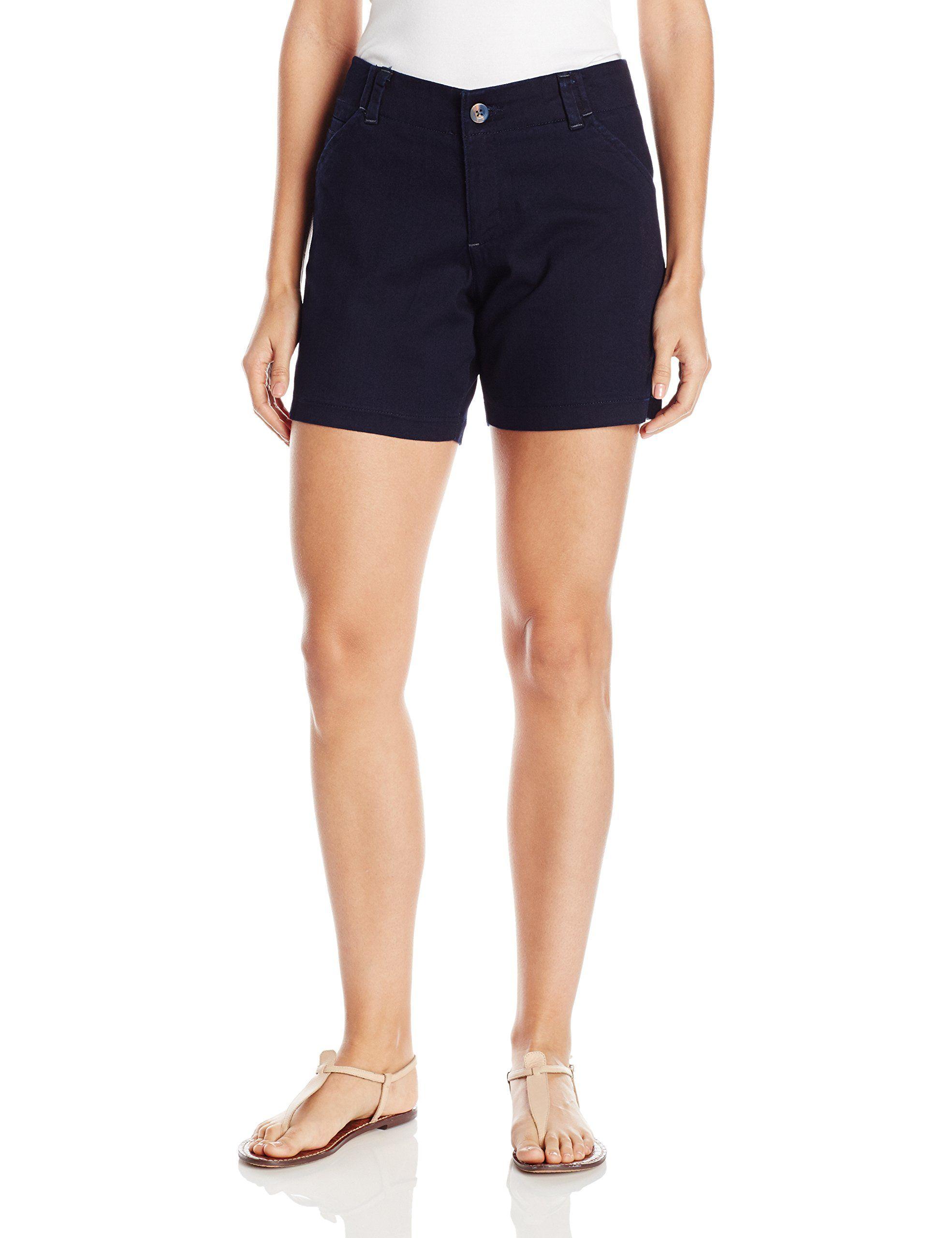 Lee Women's Plus Size Midrise Fit Essential Chino Short, Twilight, 22W/Medium