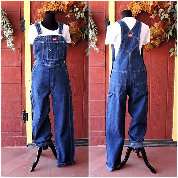 69ef43745c5 Vintage Dickies Overalls   mens womens 90s overalls   denim bib overalls    Dickies jean overall pants size M 32 X 34
