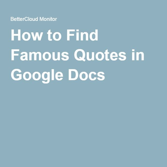 How To Edit A Pdf File Using Word Bettercloud Monitor >> How To Find Famous Quotes In Google Docs Google Tips For Teachers