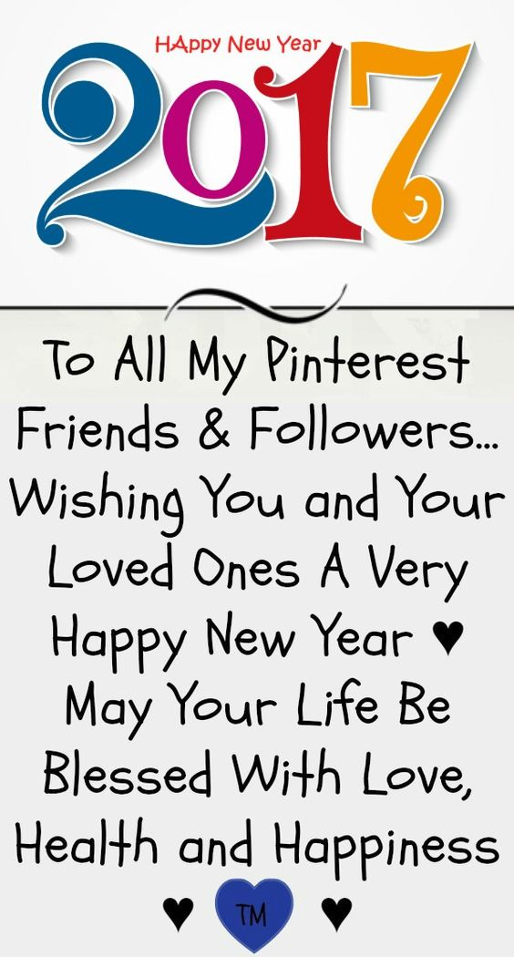 Happy New Year to all my Pinterest friends and followers <3 Love and ...