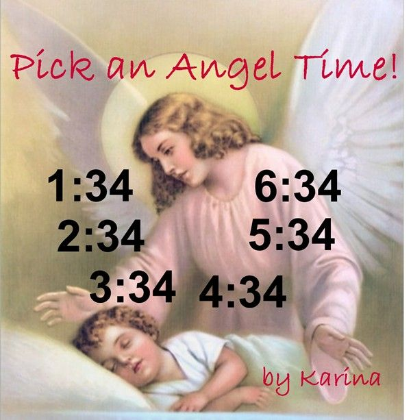 Ask your Angel for a message.  Pick a time.