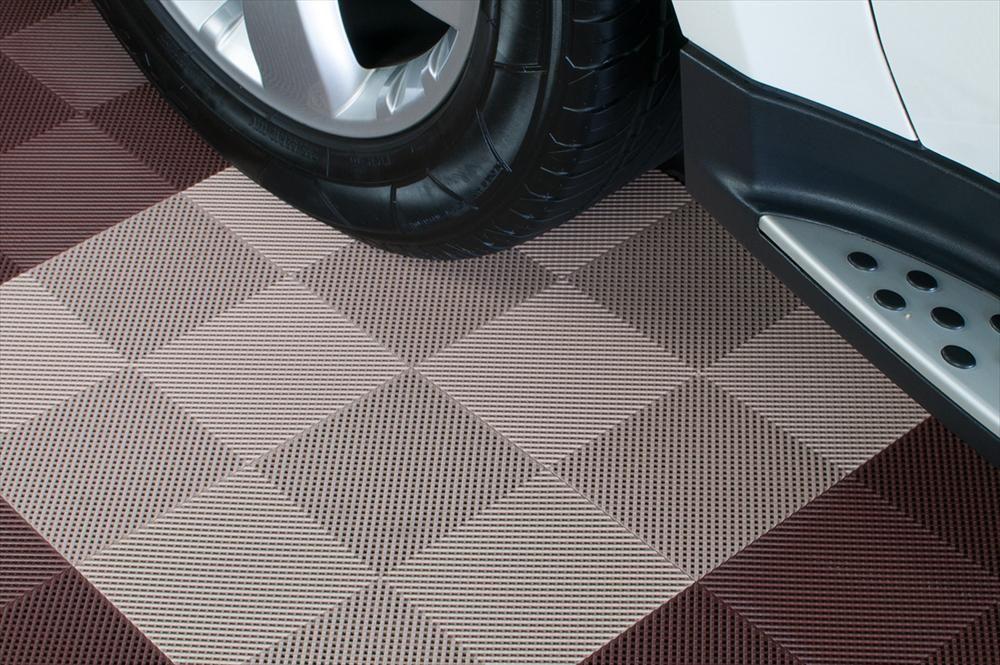 Builddirect Interlocking Deck Tiles Multi Purpose Perforated Beige Garage Floor