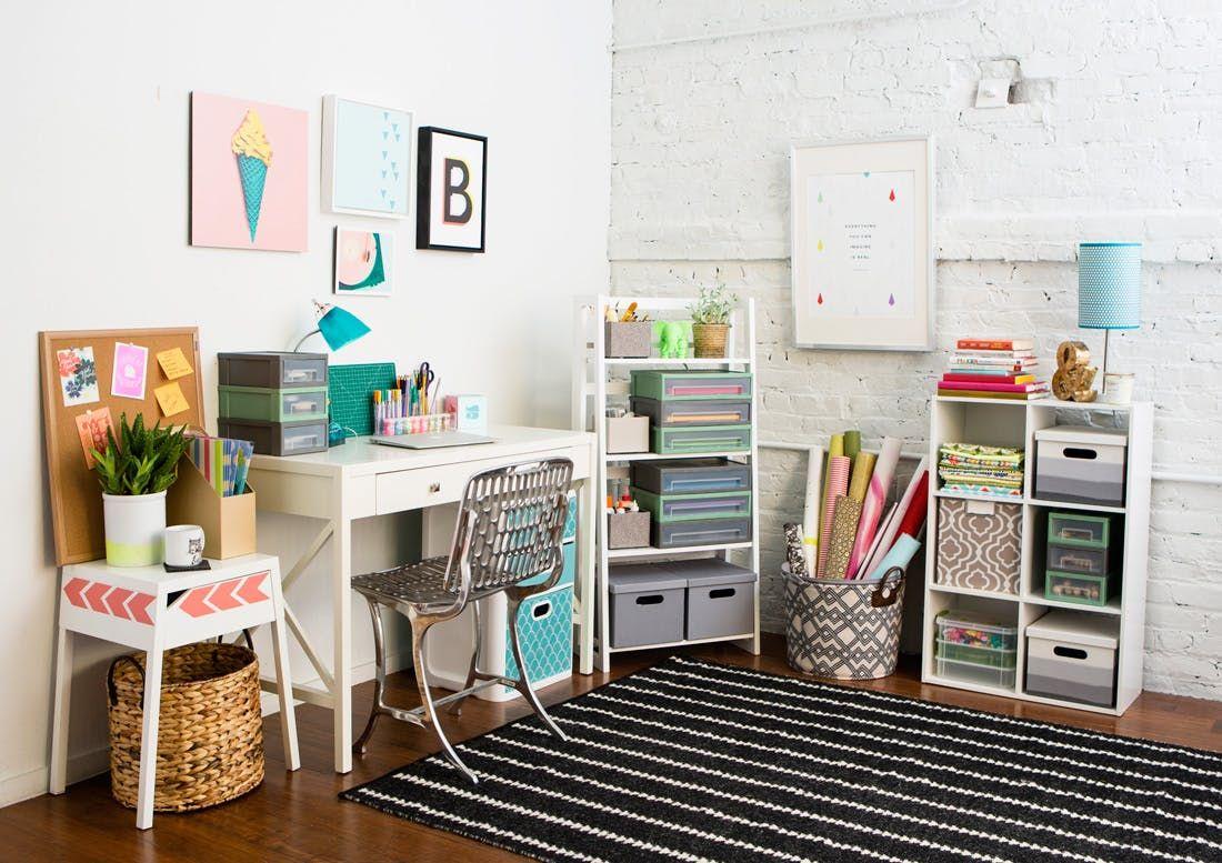 13 Essentials to DIY a Creative Workspace via Brit + Co   Creative workspace. Creative office space. Creative space