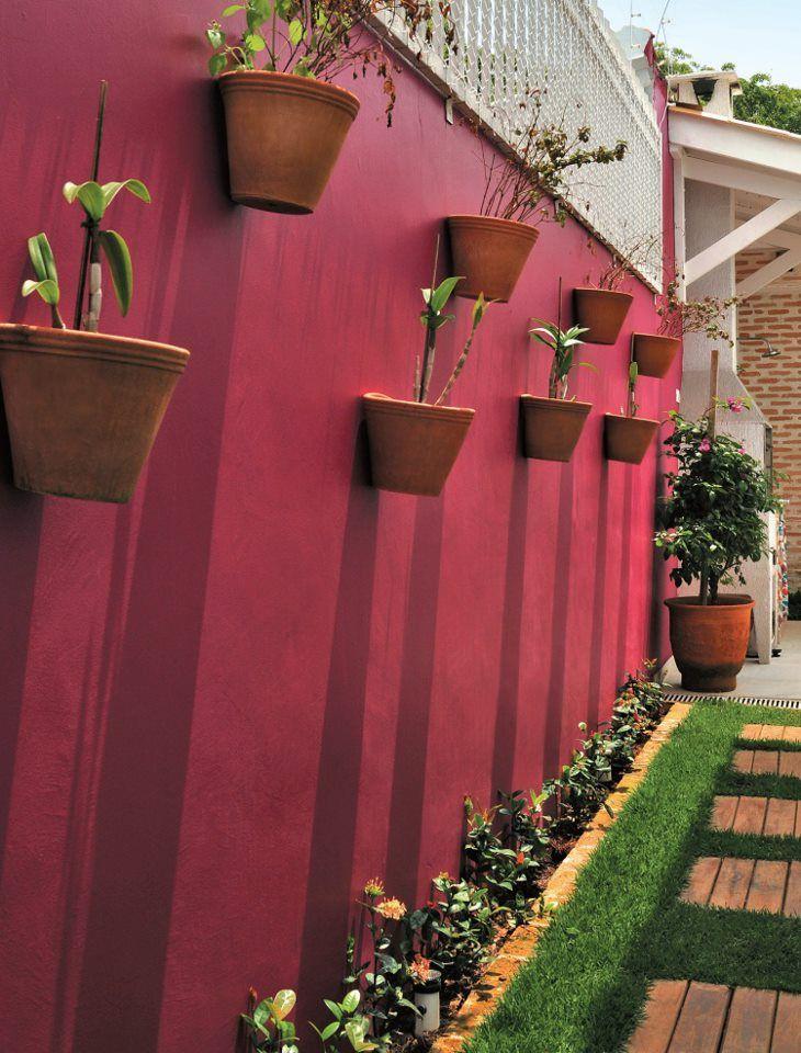 decoração para corredor externo  jardim  Pinterest  Finals, Horta