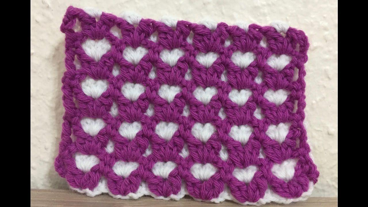 Tuto motif coeur au crochet - YouTube | choix pour Bébé Sandy ...