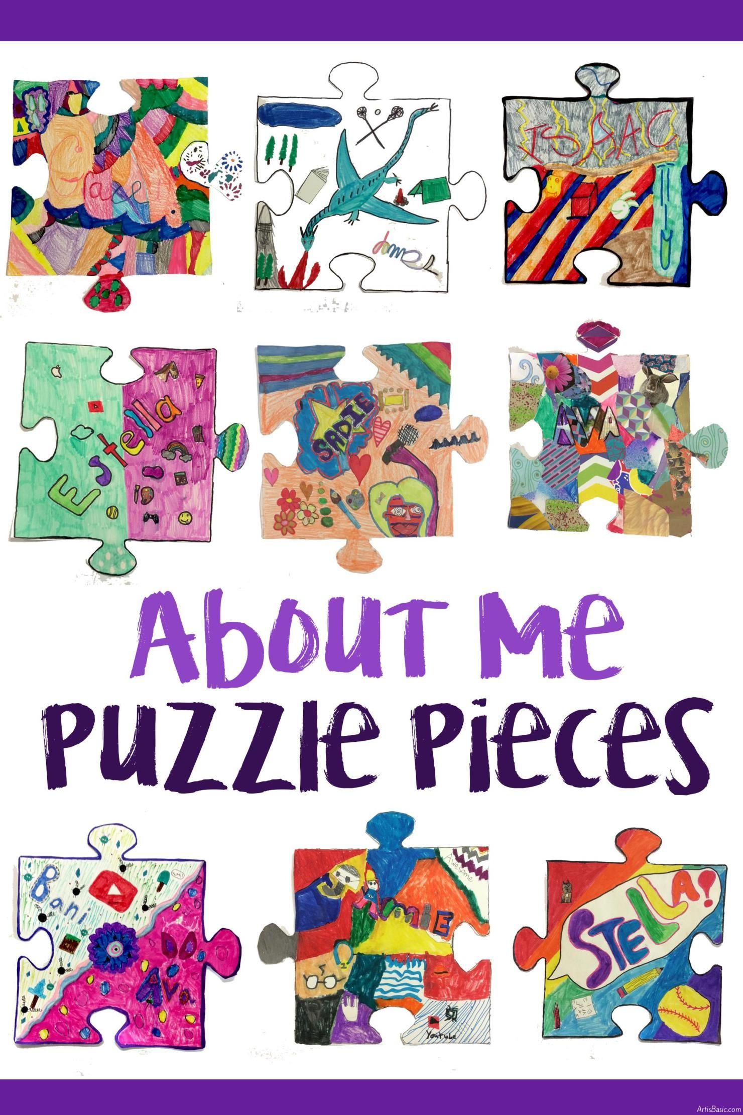 All About Me Collaborative Puzzle Pieces | Pinterest | Puzzle pieces ...