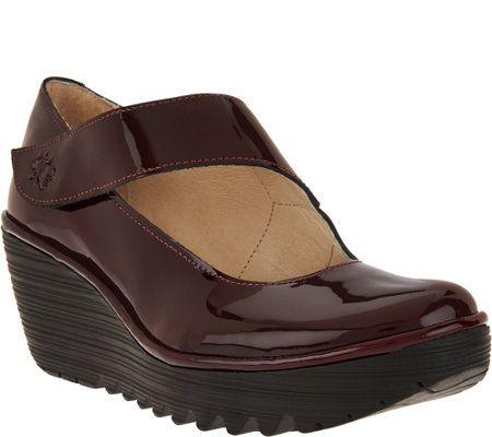 FLY London Leather Mary Janes - Yasi