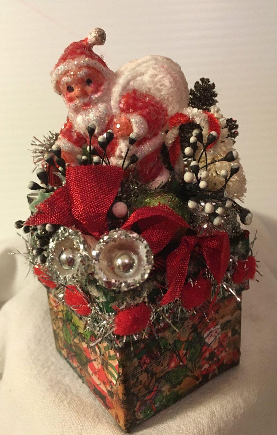 Christmas, Vintage, Vintage Christmas, Santa, Handmade, One of a ...