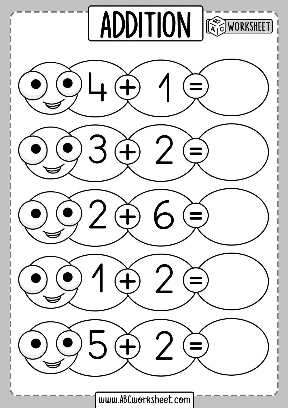 Beginner Addition Worksheets   Addition worksheets [ 1414 x 1000 Pixel ]
