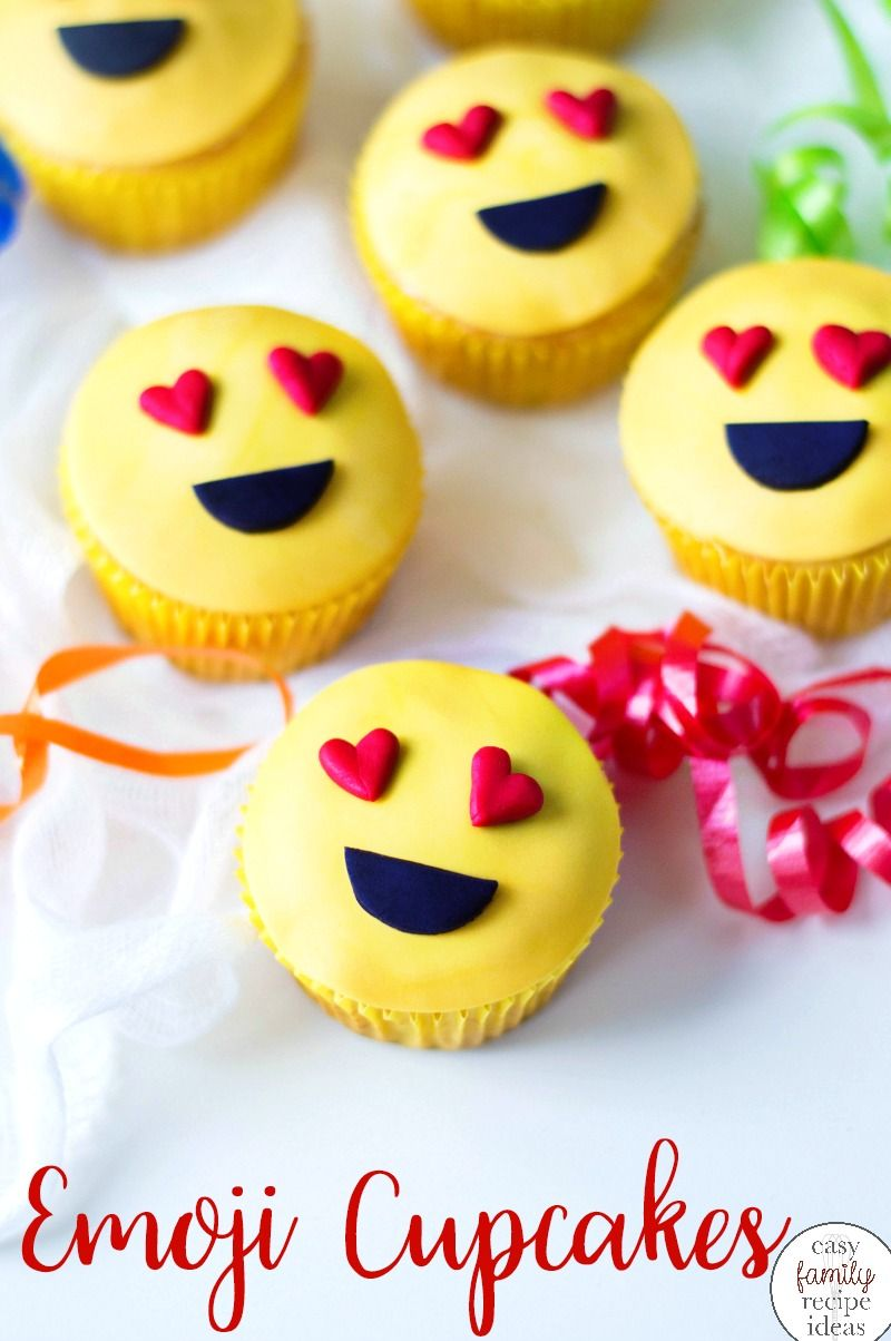 Emoji Cupcakes Recipe With Images Emoji Cupcakes Lemon And Coconut Cake Easy Family Meals