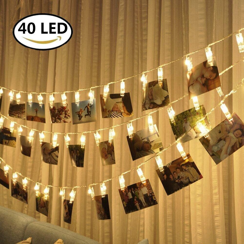 String Lights With Clips Led Photo Clips String Lights  40 Photo Clips For Hanging Photos