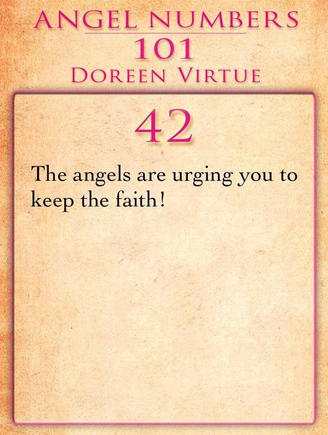 The Angel Number 42 | Angels | Angel numbers, Numerology