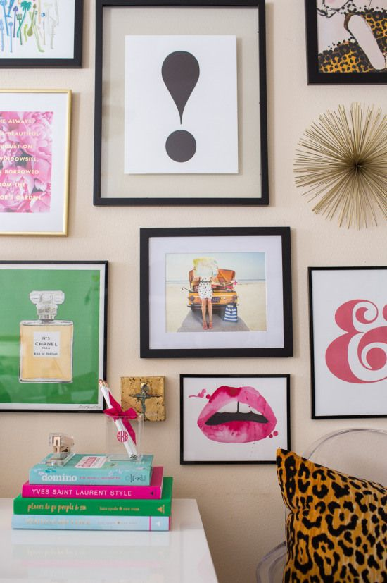 Gallery Wall Prints kate spade gallery wall | chanel print, gallery wall and brighton