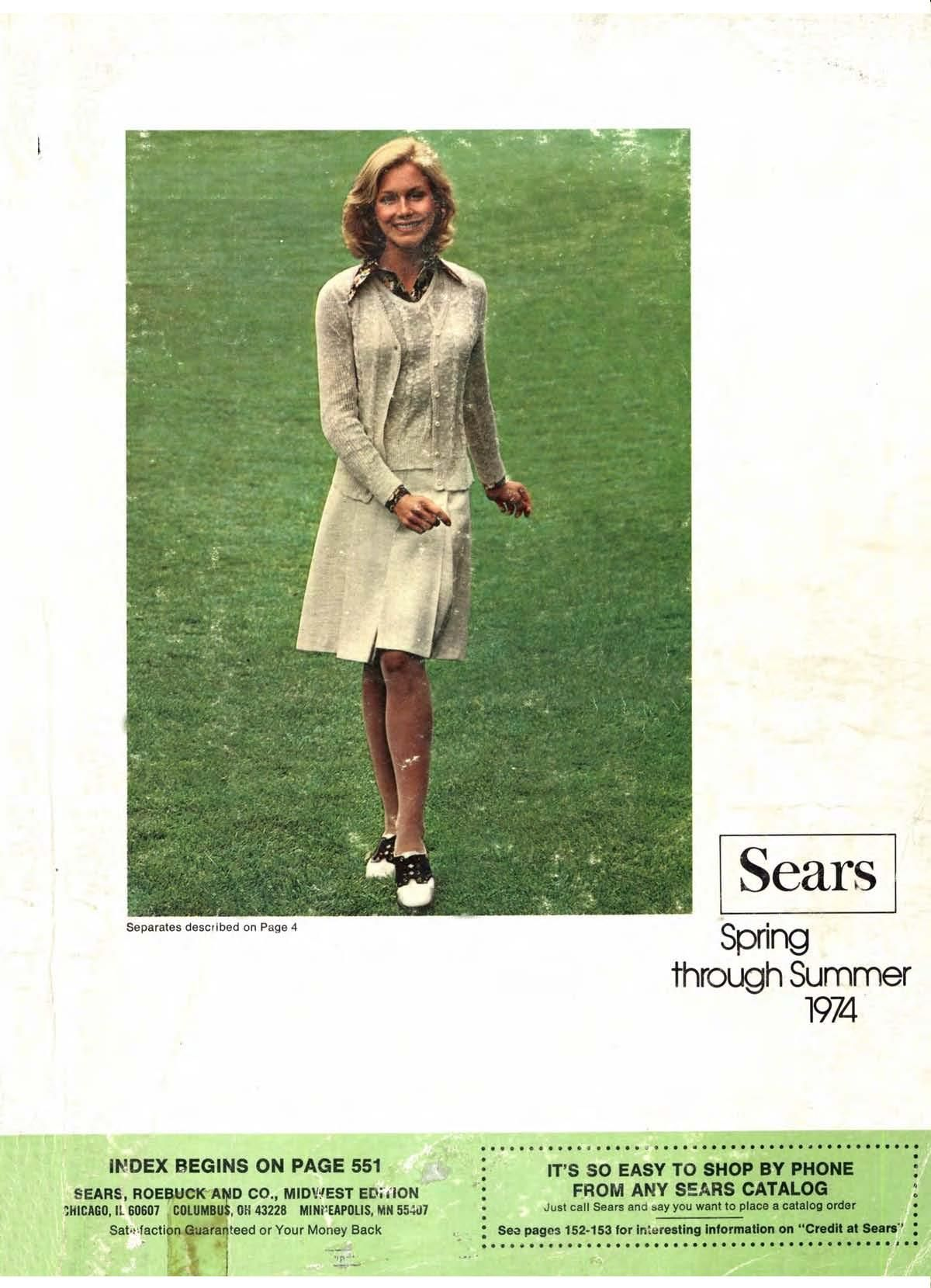 1974 Sears Spring Summer Catalog in 2020 Christmas