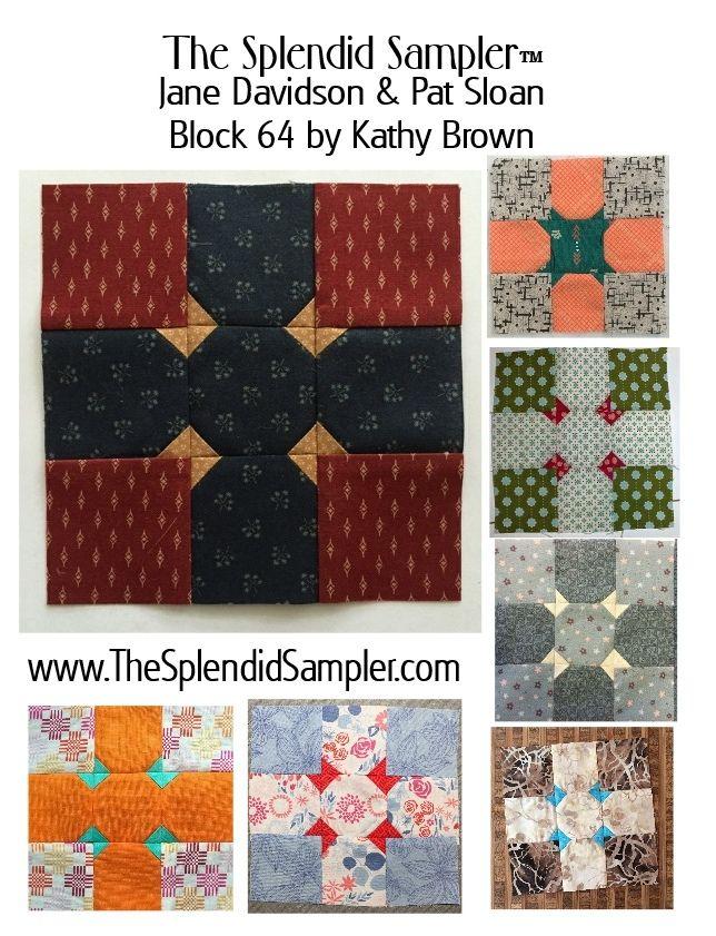 64 Splendid Sampler Kathy Brown Block Multi Sampler Quilts