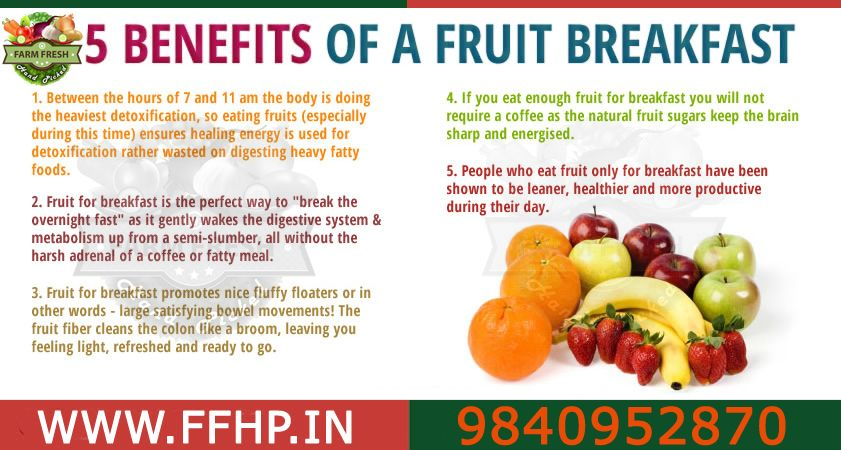 5 Benefits of a fruit Breakfast!