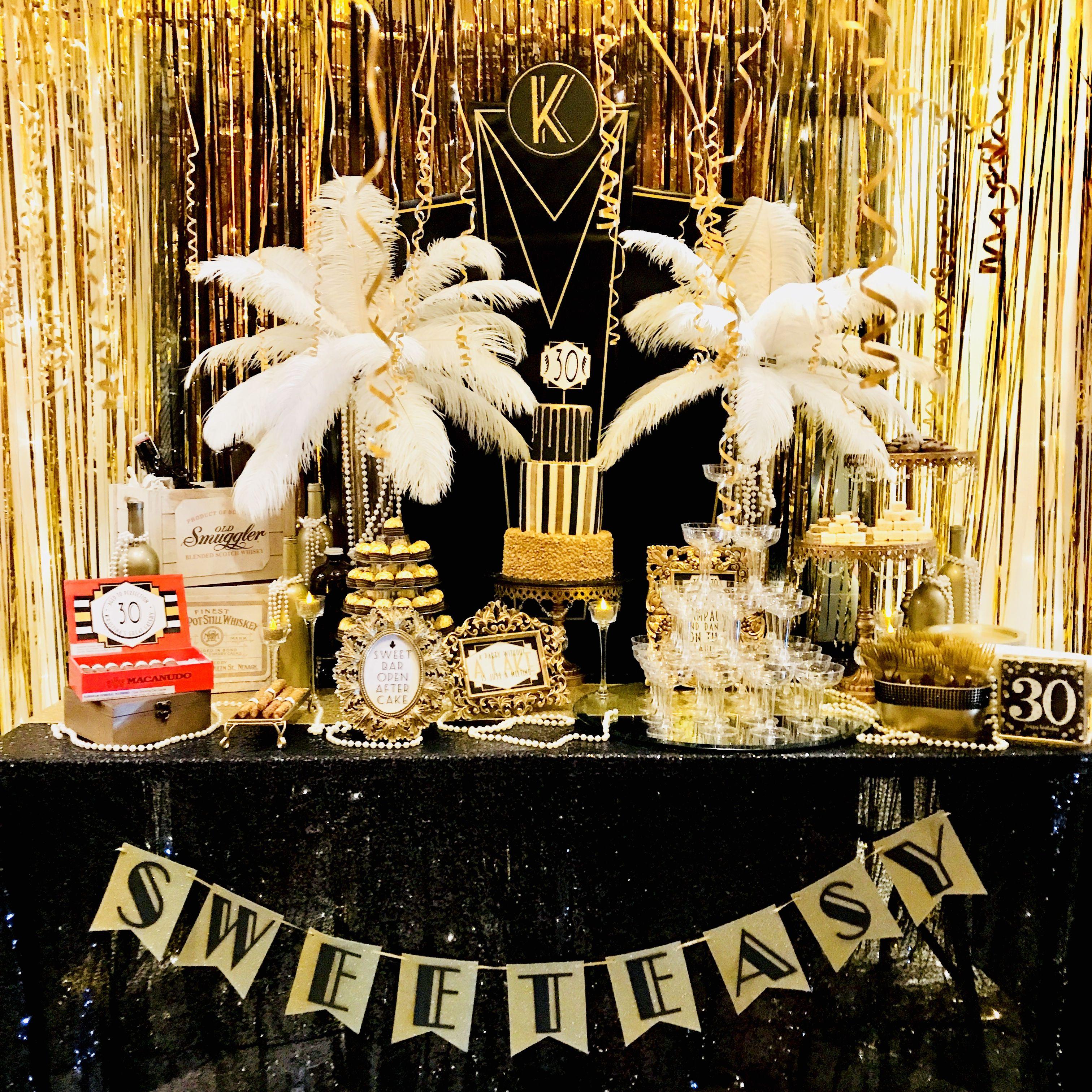 Great Gatsby Party Sweet Bar Www Createdbyxti Com Great Gatsby
