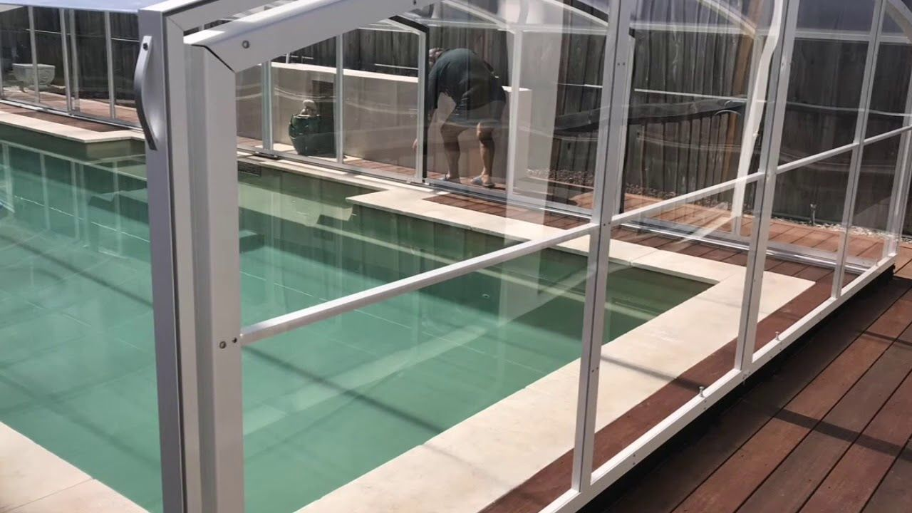 Retractable Pool Enclosure Custom Your Pool Enclosure Now Excelite Pool Enclosures Pool Enclosure