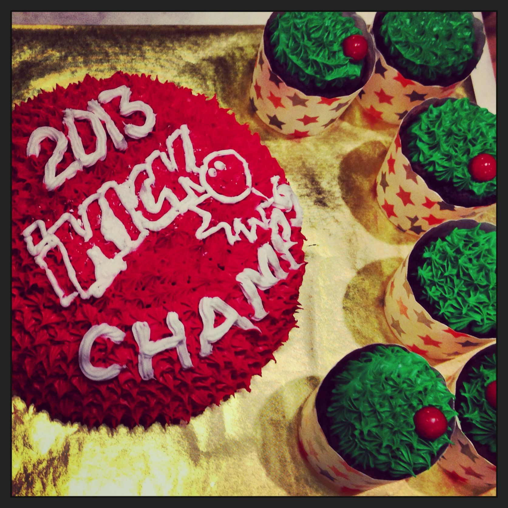 Celebratory Kickball Cake Amp Cupcakes