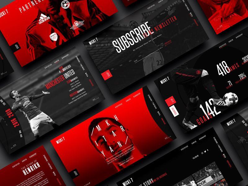 Stylescape Graphic Design: Henrikh Mkhitaryan Website Stylescape