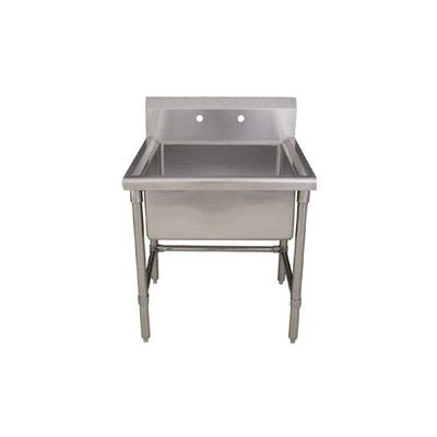Whitehaus Freestanding Utility Sink Whls2424 Brushed Stainless