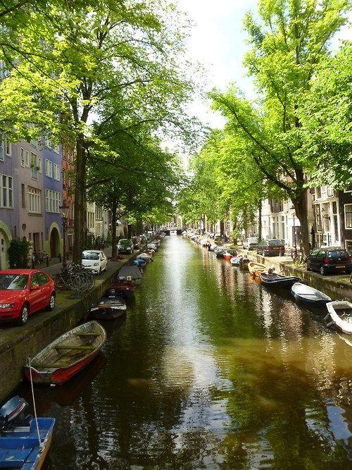Canal em Amsterdam, Holanda (Países Baixos)