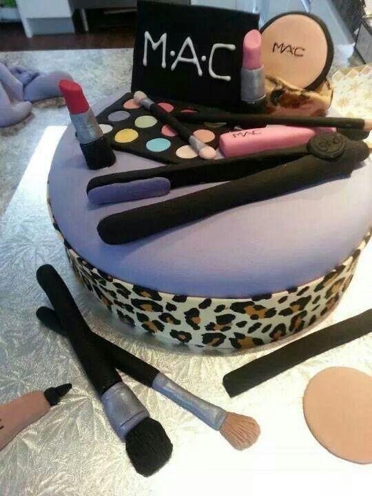 Makeup Cakes Decorated Cakes Pinterest Makeup cakes Macs and Cake