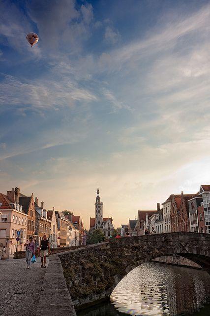 Bridge at dusk - Bruges