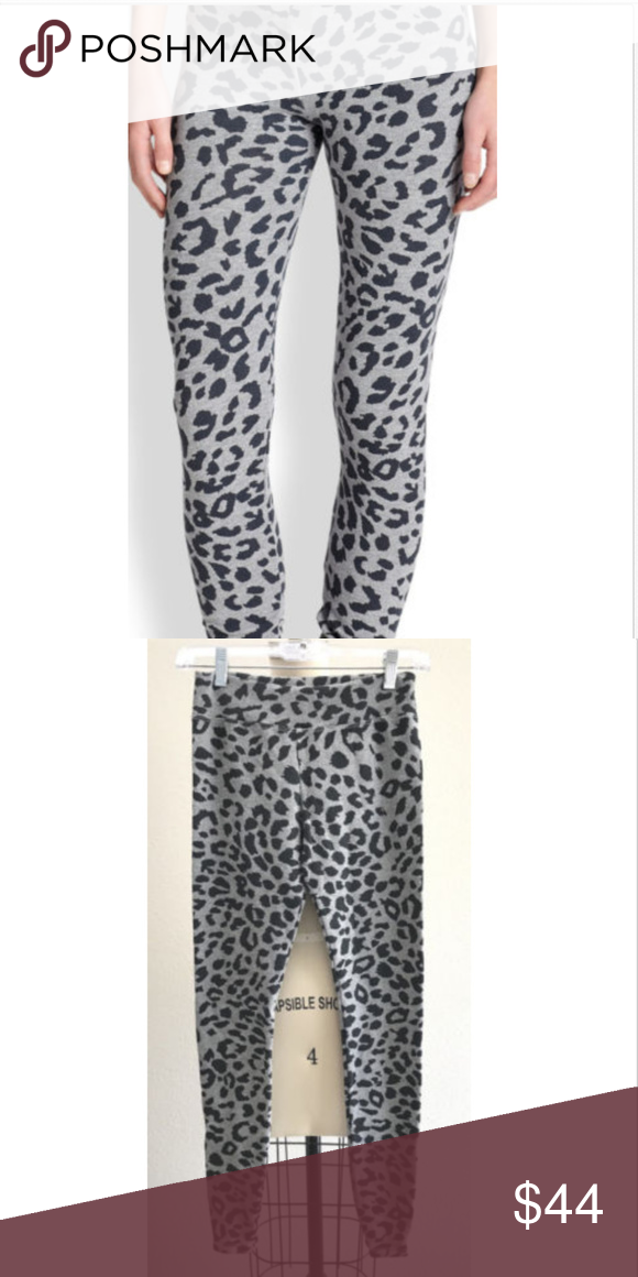 a4e05ff3b729 Sundry Leopard Print Yoga Pants, 1/S Ultra soft slim fitting legging/yoga  pants, in ankle length 61% cotton , 35% lyocell , 4% spandex Slub terry  fabric ...