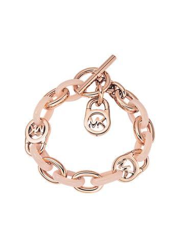 3b9949f102a48 Michael Kors Heritage Rose Gold-Tone and Blush Chain Bracelet