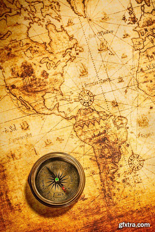 Love The Antique Maps A Pirates Life For Me Pinterest - Antiques us maps with compass