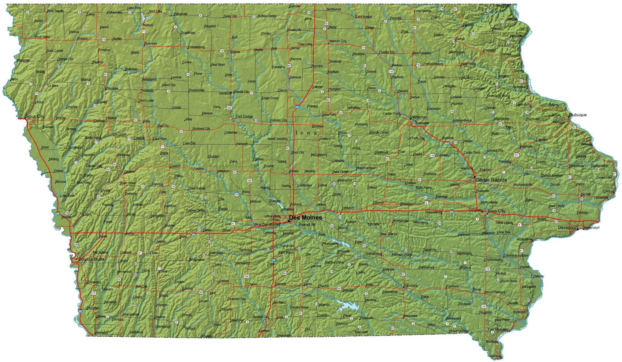 Iowa Geography And History