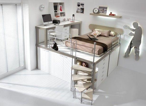 Multifunctionele tienerkamer ideaal voor kleine ruimtes for Meubels voor kleine ruimtes