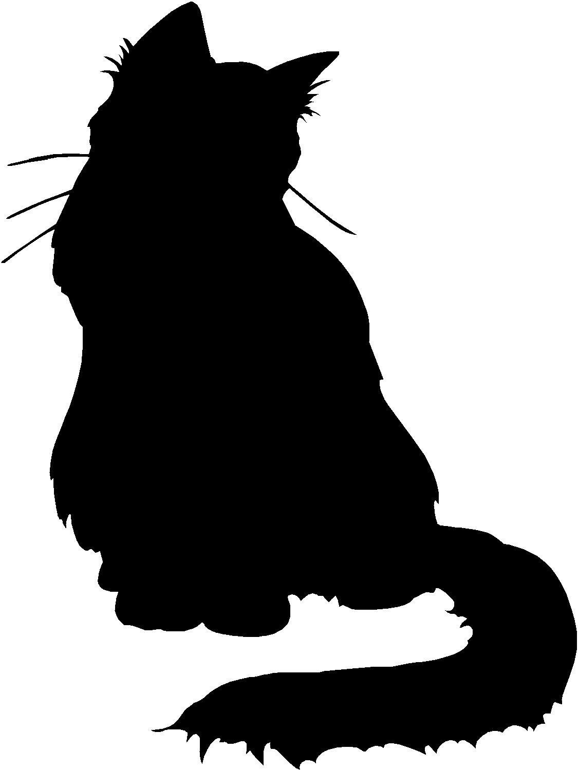 Fluffy Cat Kitten 3 75 X 5 Choose Color Vinyl Decal Sticker 2863 Fluffy Cat Cat Silhouette Cats And Kittens