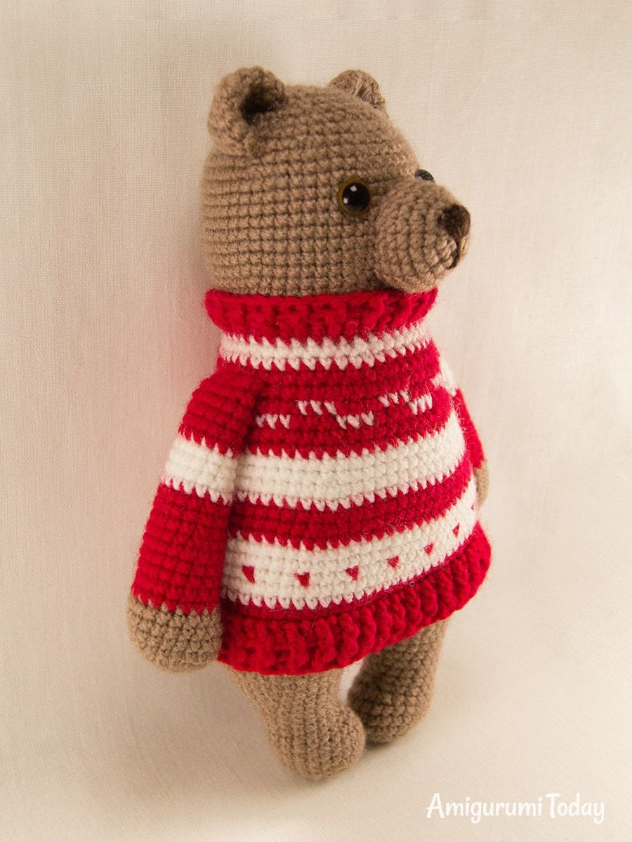 Free Teddy Bear crochet pattern - Amigurumi Today | 1200x900