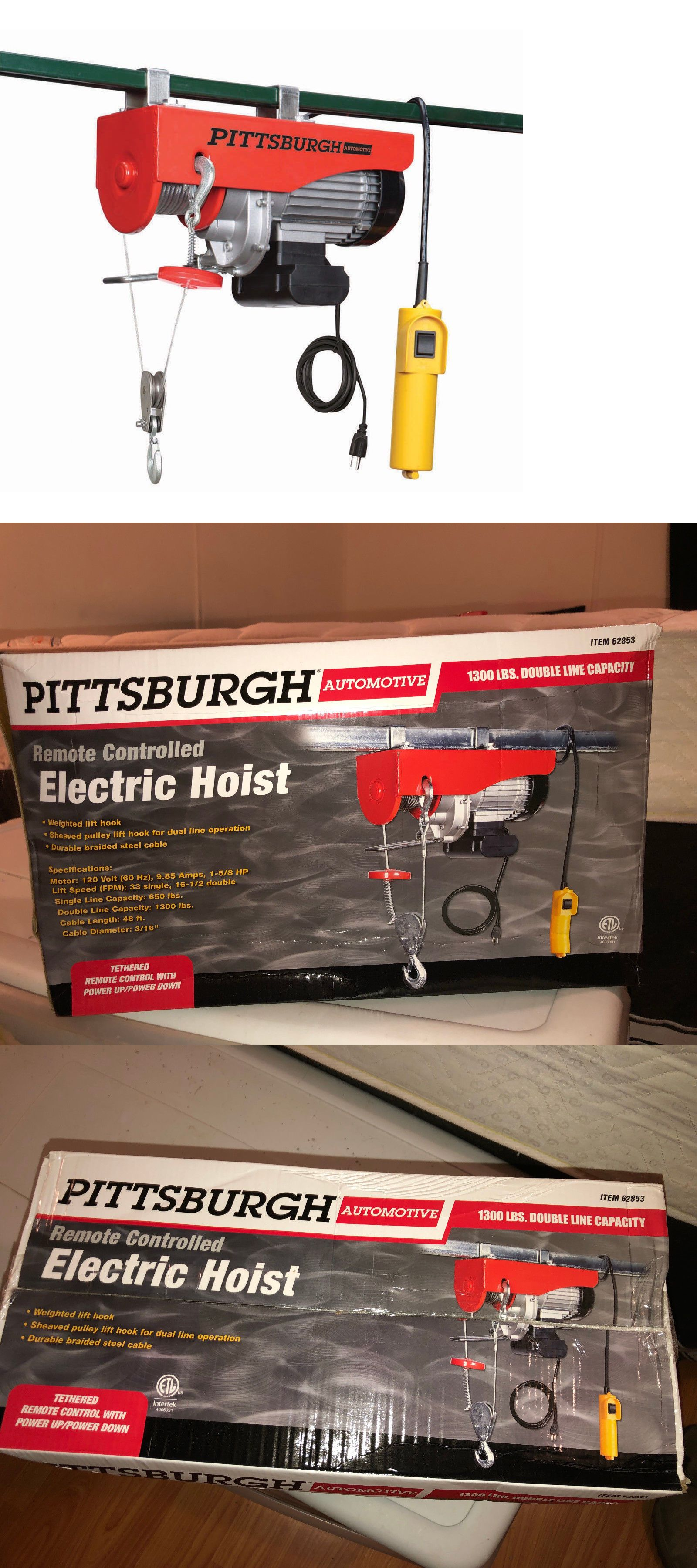 Winches 66798: Pittsburgh Automotive1300 Lb  Electric Hoist With