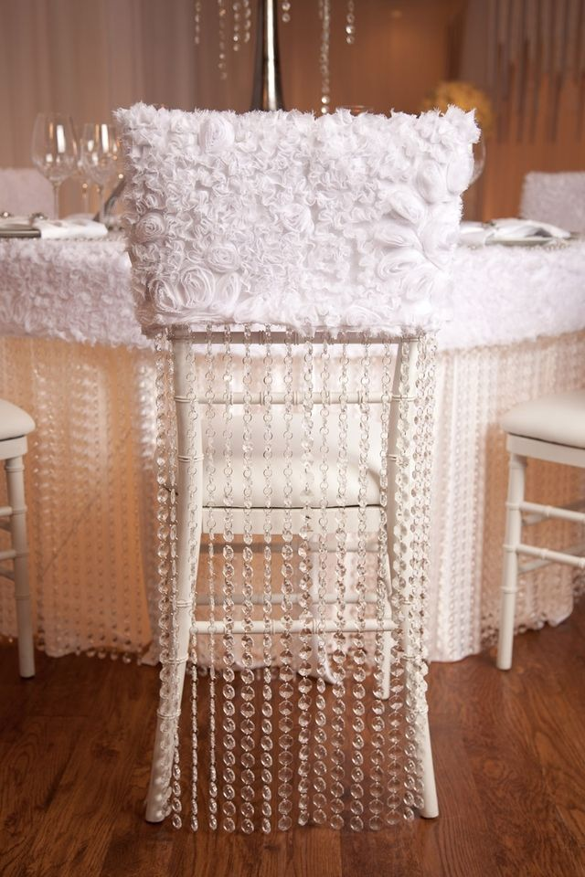 Textura Cristales Colgantes Chair Covers Wedding Chair Decorations Chair Covers Wedding