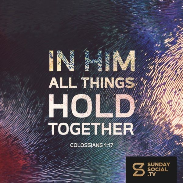 Browse Sunday Social Colossians Colossians 1 Hold On