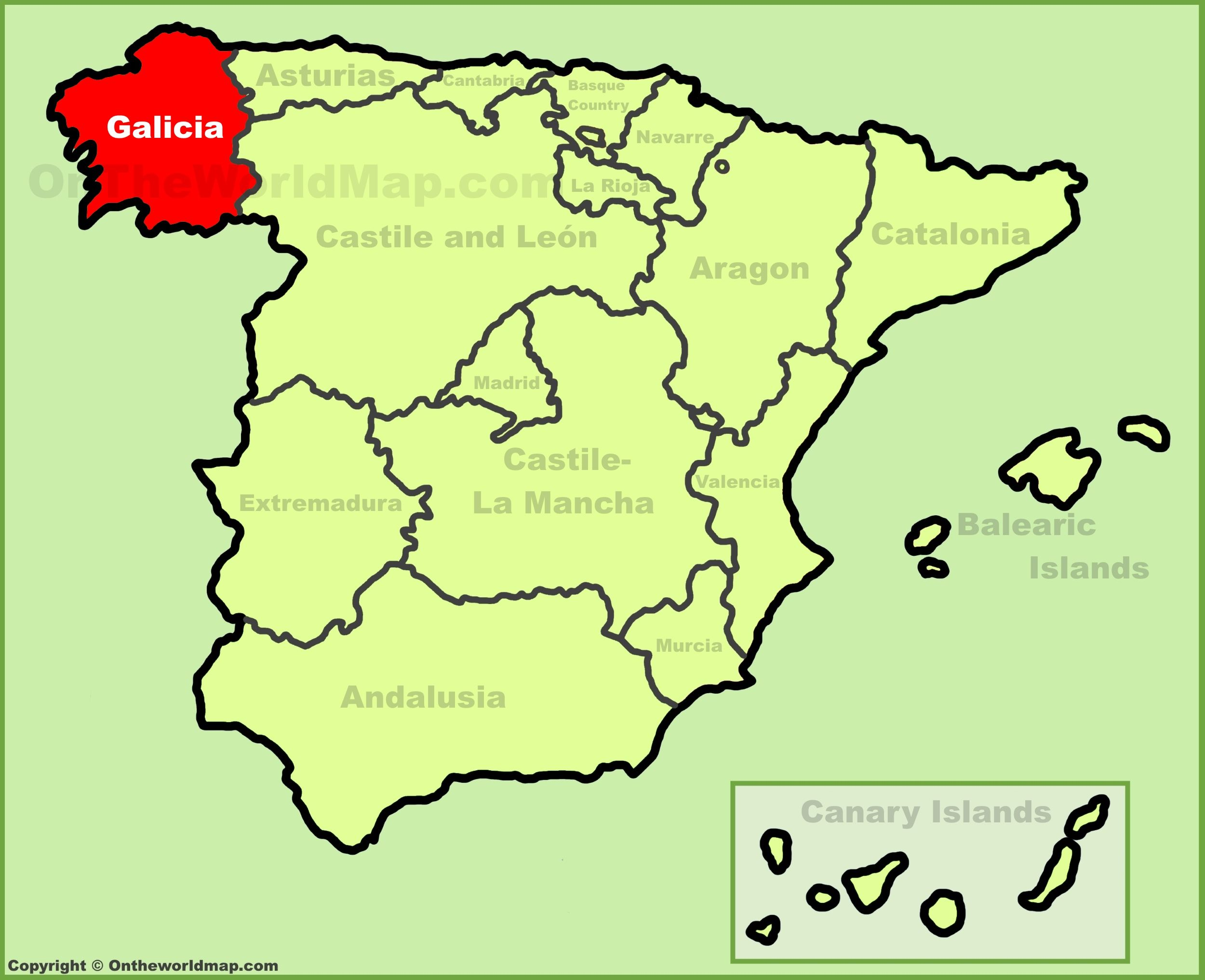 Map Of Spain Oviedo.Pin By Imelda Fagin On Celtic Galicia Map Of Spain Barcelona