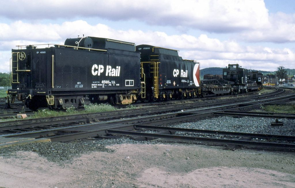 2 steam loco tenders used to carry water for gangs working