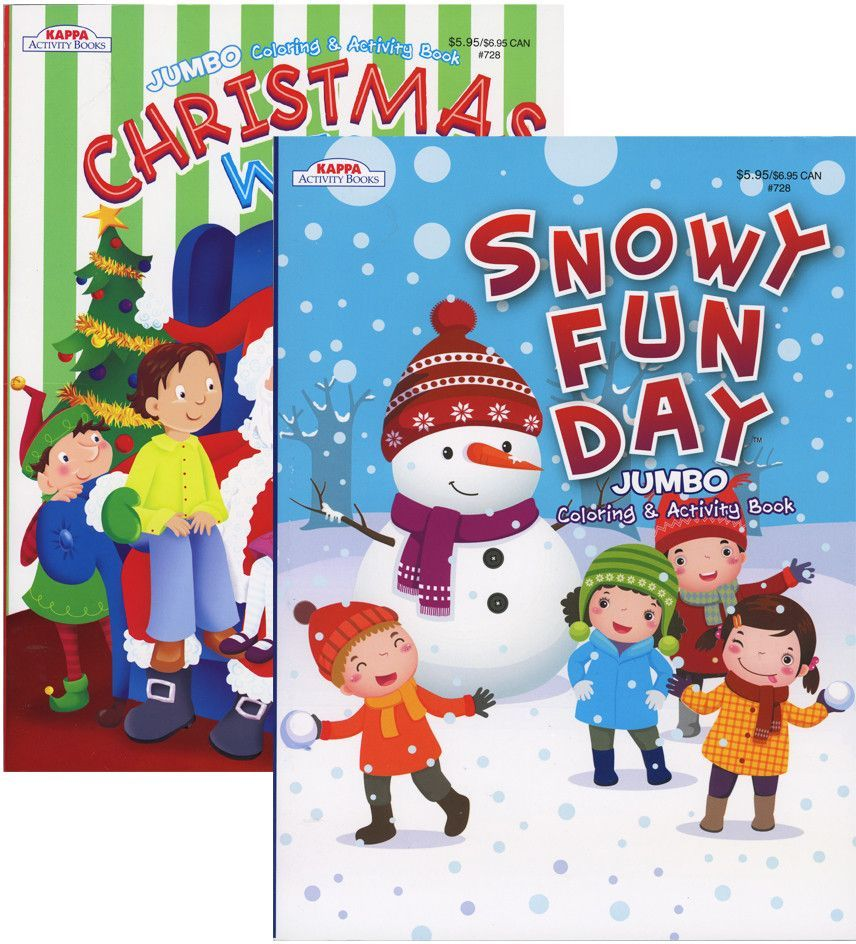 Kappa jumbo christmas coloring u activity book case of products