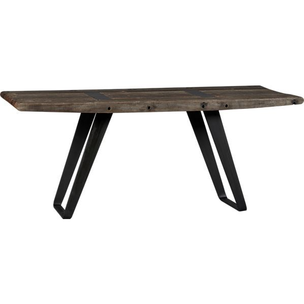 Jackson Rectangular Table With Metal Base: Coffee Table Legs, Table