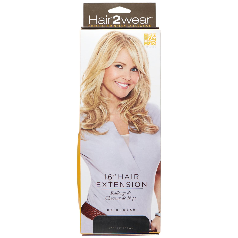 Clip in darkest brown inch hair extension hair extensions