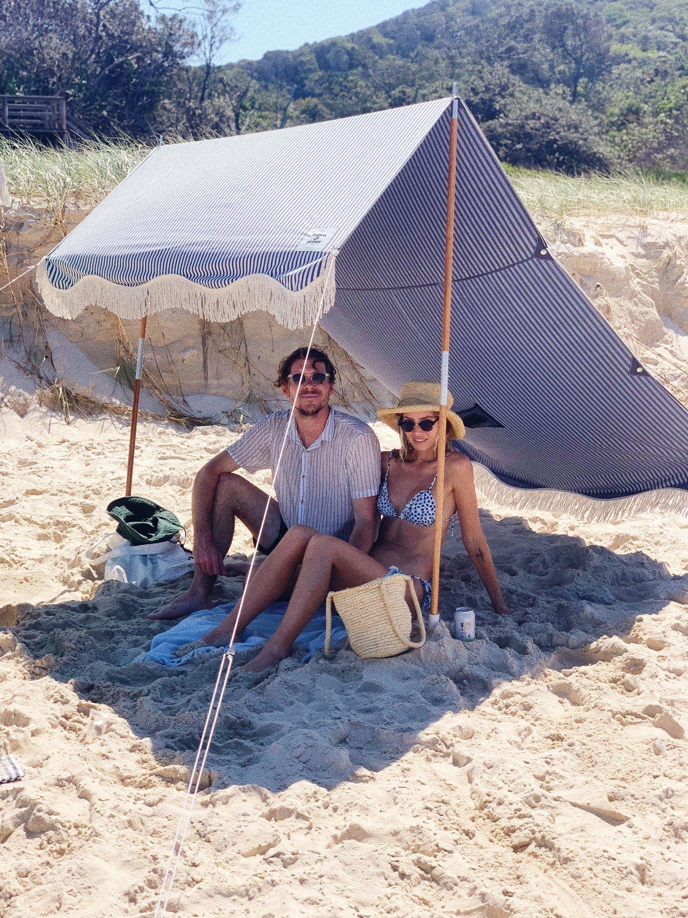 Lauren's Navy Stripe Premium Tent in 2020 Beach tent