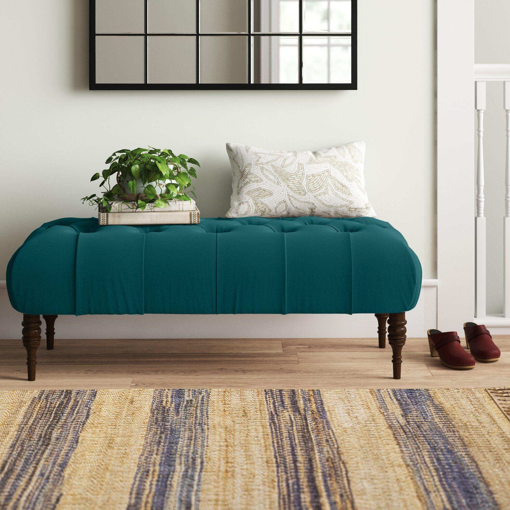 Ramford Velvet Upholstered Bench In 2021 Upholstered Bench Upholstered Bench Living Room Upholster Living room upholstered bench