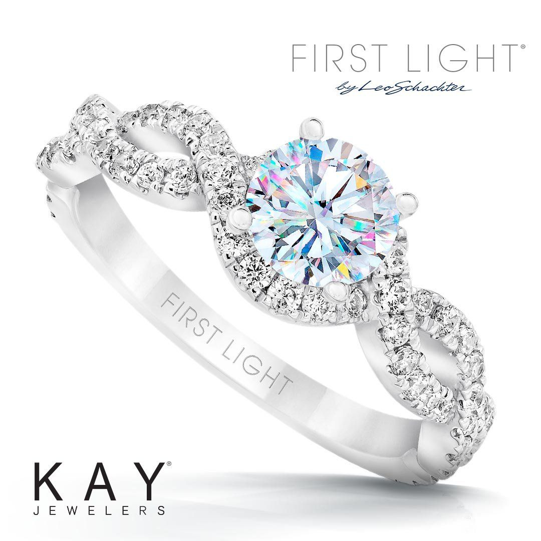 ac7e5db72f993 First Light Diamond Engagement Ring 1-1/3 ct tw 14K White Gold in ...
