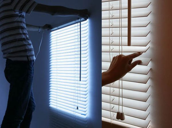 Bright Blinds Give You The Impression Of Light Coming In Through A Window