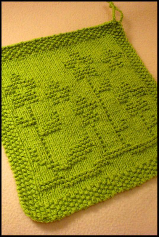 Krisknits Its A Spring Thing Dishcloth Knitting Patterns Dishcloth Pattern Knit Dishcloth